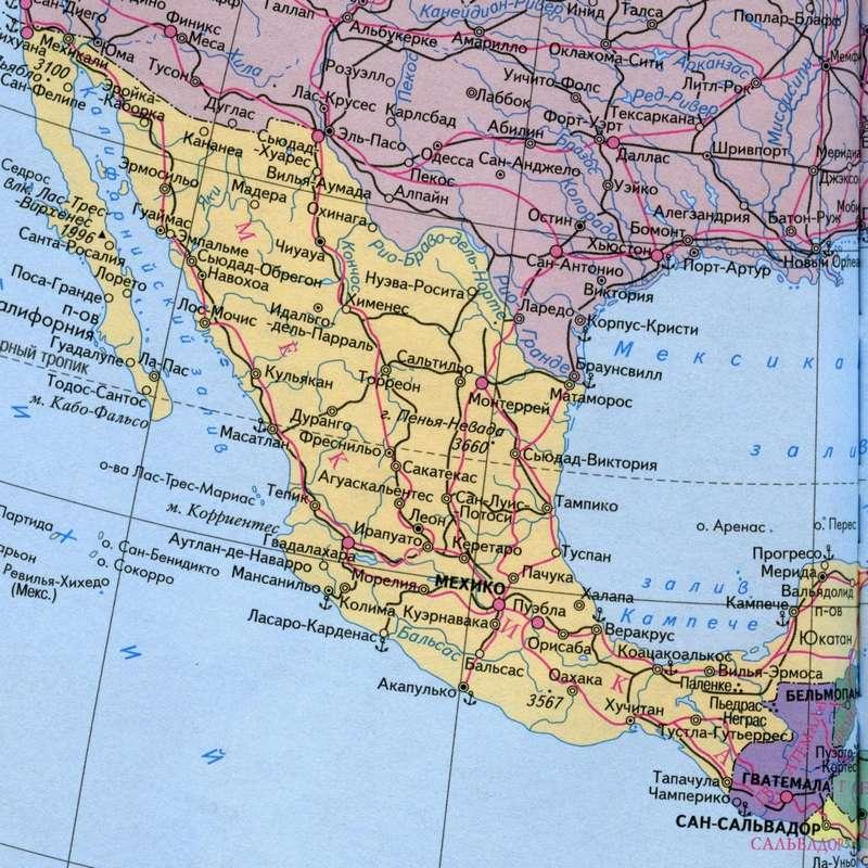 мексика на карте мира фото была